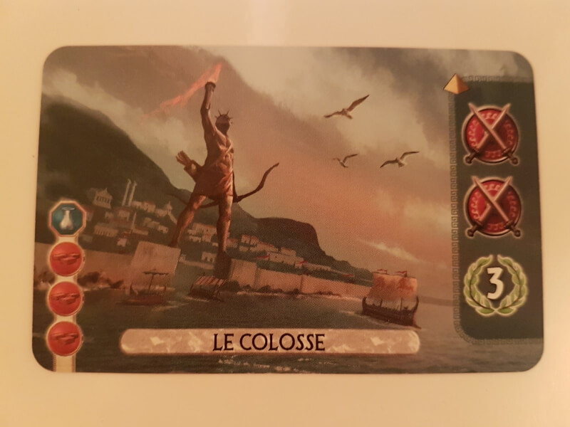 7 Wonders Duel Merveille le colosse
