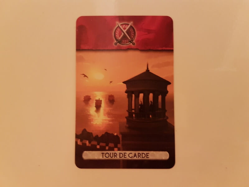 7 Wonders Duel batiment rouge tour de garde
