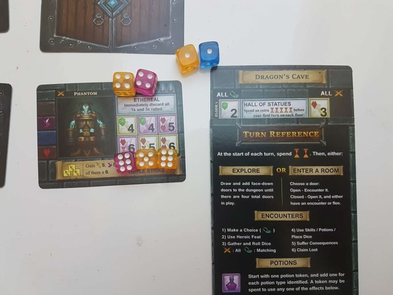 one deck dungeon Exemple de combat