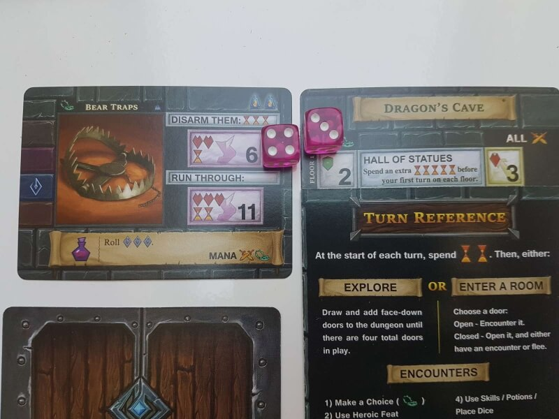 one deck dungeon Exemple de piège